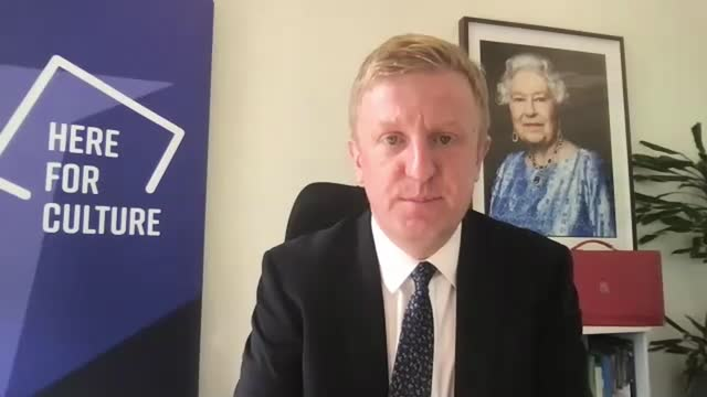 culture and sports secretary oliver dowden interview; england: london: int oliver dowden mp interview via internet sot q: so you are prepared to get... - asia stock videos & royalty-free footage