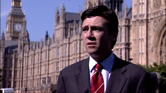 culture secretary apologises for appearing to suggest hillsborough disaster caused by crowd trouble london westminster andy burnham mp interview sot... - 登場点の映像素材/bロール