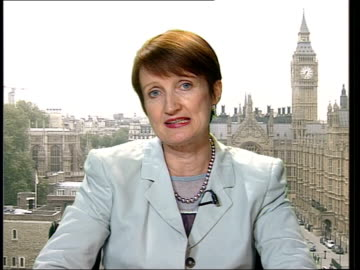 culture secretary criticises tv show 'i'm a celebrity'; 2-way studio/westminster england london westminster int tessa jowell mp interview sot - i was... - i'm a celebrity... get me out of here stock videos & royalty-free footage