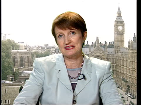 culture secretary criticises tv show 'i'm a celebrity' 2way studio/westminster london westminster int tessa jowell mp interview sot i was making... - i'm a celebrity... get me out of here stock videos & royalty-free footage