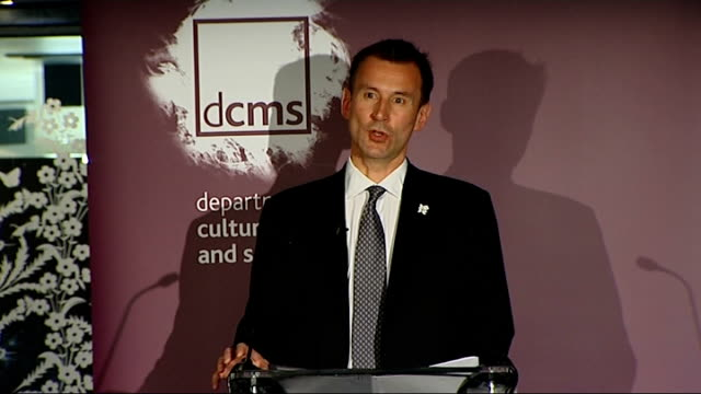 culture secretary jeremy hunt speech on media policy jeremy hunt speech sot in an age of localism we have virtually no local tv stations in our major... - cable tv stock videos & royalty-free footage