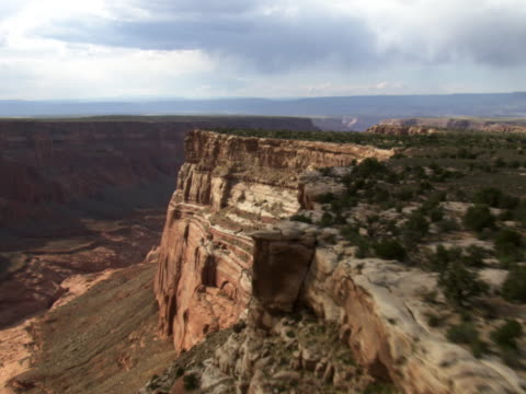 cummings mesa on right and wetherill canyon - artbeats stock videos & royalty-free footage