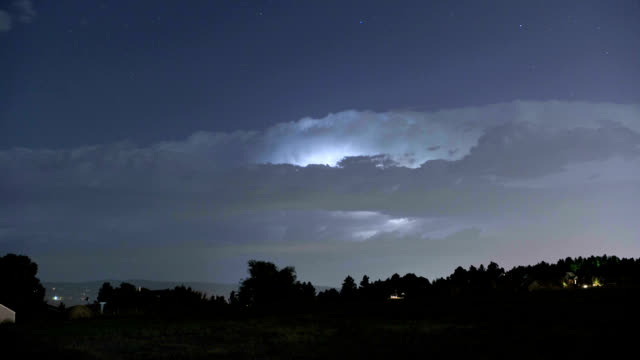 cumulonimbus at night, timelapse - stratocumulus stock videos and b-roll footage