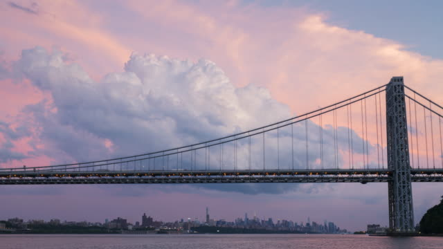 Cumulonimbus Clouds Over The George Washington Bridge