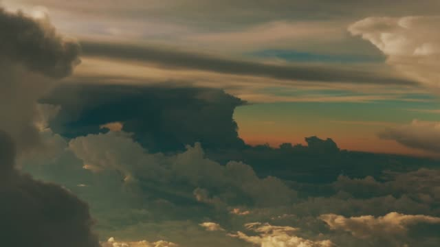 cumulonimbus with romantic sky - romantic sky stock videos & royalty-free footage