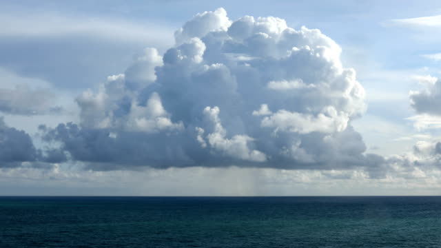 cumulus cloud at sea - cumulus stock videos & royalty-free footage
