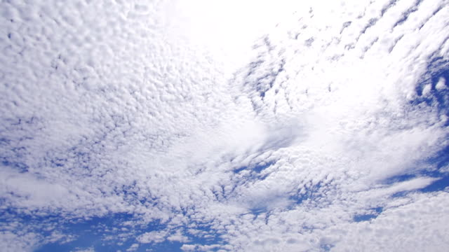 cumulus clouds cover the entire sky - cirrocumulus stock videos & royalty-free footage