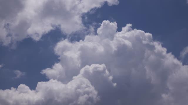 vídeos y material grabado en eventos de stock de lapso de tiempo de nubes de cúmulos - el cielo