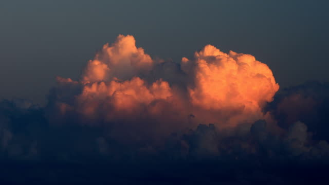cumulus cloudscape at sunset - cumulus stock videos & royalty-free footage