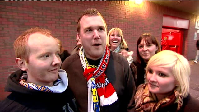 stockvideo's en b-roll-footage met fa cup 4th round vox pops havant supporters as leaving after match - fa cup