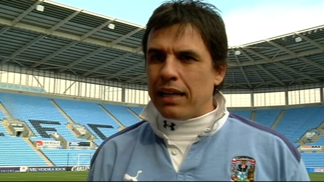 coventry city v chelsea preview coventry ricoh arena day chris coleman interview sot / ricoh arena - coventry stock videos & royalty-free footage