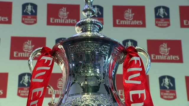 emirates airline to sponsor the fa cup cutaways and interview england london wembley stadium int general views of fa cup / greg dyke and sir tim... - greg dyke stock videos and b-roll footage