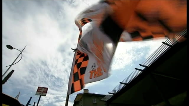 arsenal face hull city england east yorkshire hull ext various of hull city 'fa cup final 2014' football team flags and scarves on stall outside hull... - neckwear stock videos and b-roll footage