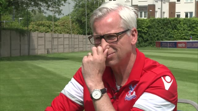 crystal palace interviews alan pardew interview sot - final round stock videos & royalty-free footage
