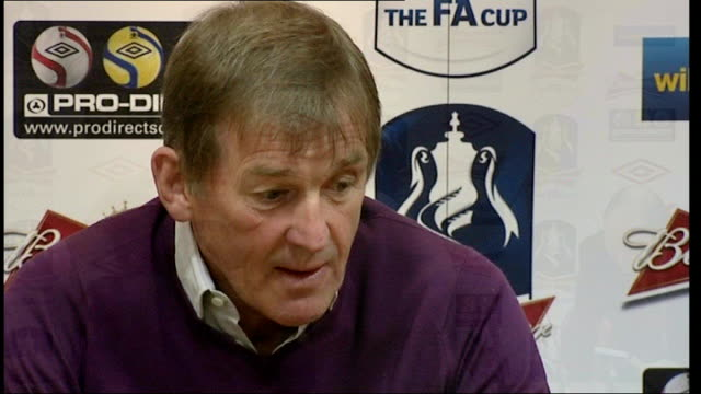 FA Cup Final preview INT Kenny Dalglish press conference SOT