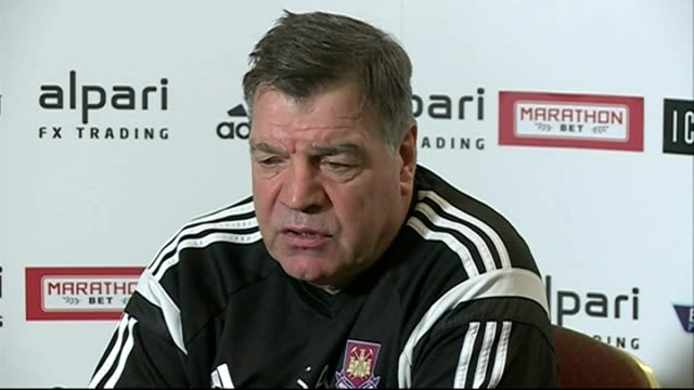 preview; england: essex: chadwell heath: int sam allardyce press conference sot - sam west stock videos & royalty-free footage
