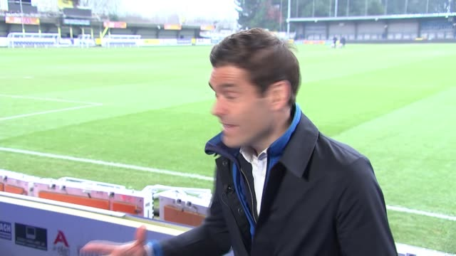 preview of afc wimbledon v west ham england london kingstonuponthames kingsmeadow int wally downes interview sot on vinnie jones taking an interest... - vinnie jones stock videos & royalty-free footage