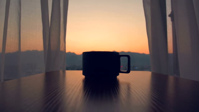 cup of coffee or tea in the morning - coffee cup stock videos & royalty-free footage