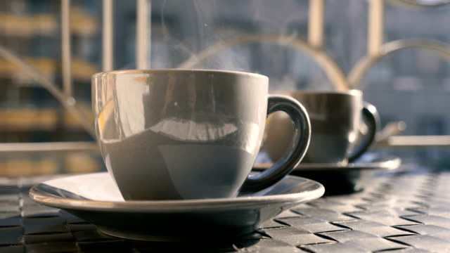 cup of coffee. - coffee cup stock videos & royalty-free footage