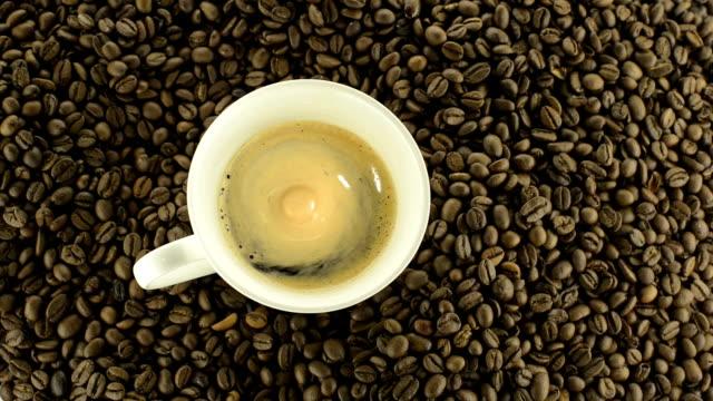 カップのエスプレッソコーヒー hd - coffee cup点の映像素材/bロール