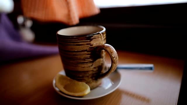 cup of tea - rustic stock videos & royalty-free footage