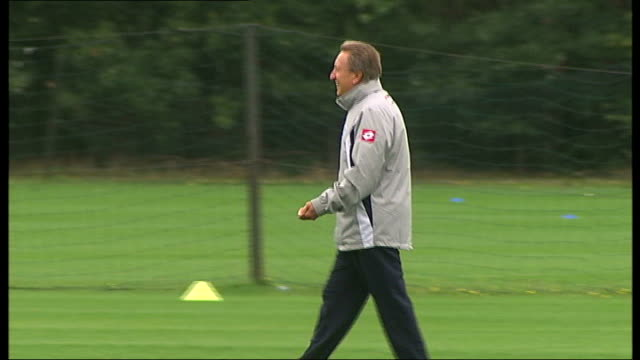 QPR v Chelsea Buildup dominated by Ferdinand and Terry Situation R11081107 Harlington Former QPR Manager Neil Warnock at training