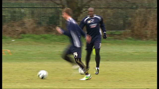 millwall v wigan preview england london bromley ext millwall footballers kicking balls along during training session fa cup with millwall players... - semifinal round stock videos & royalty-free footage