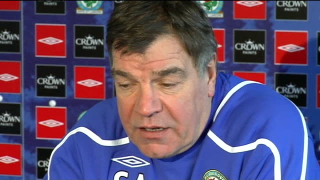 Third Round Blackburn Rovers Sam Allardyce press conference Allardyce press conference SOT This match will be good test of mentality of players...