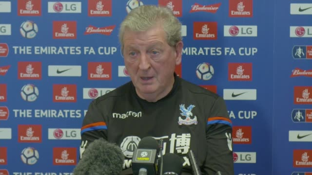cup third round / video assistant referee trial; london: int roy hodgson press conference sot - re forthcomng fa cup match against crystal palace and... - var stock videos & royalty-free footage