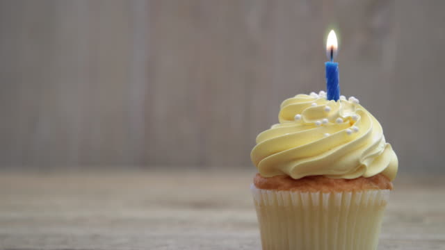 cupcake 4k - candlelight stock videos and b-roll footage