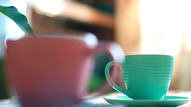 cups of coffee - cup stock videos & royalty-free footage