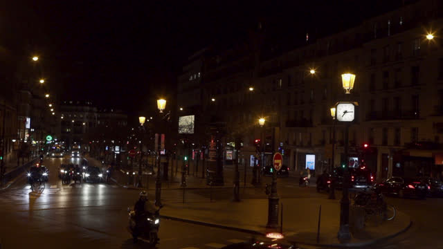 curfew at 6 p.m. in paris. france faces the coronavirus - prime minister stock videos & royalty-free footage