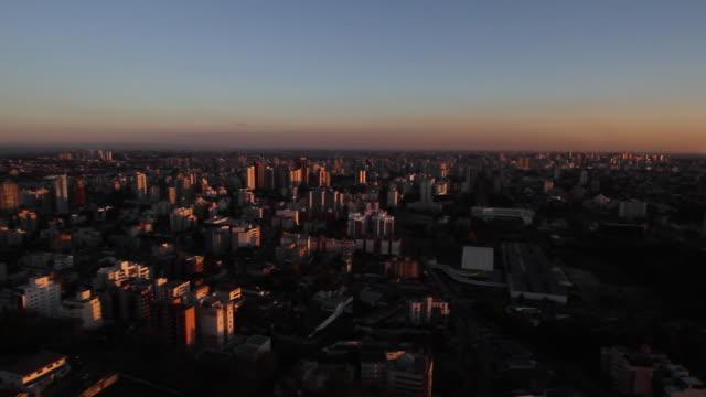 aerial curitiba, sunset and oscar niemeyer museum/ brazil - oscar niemeyer stock videos and b-roll footage