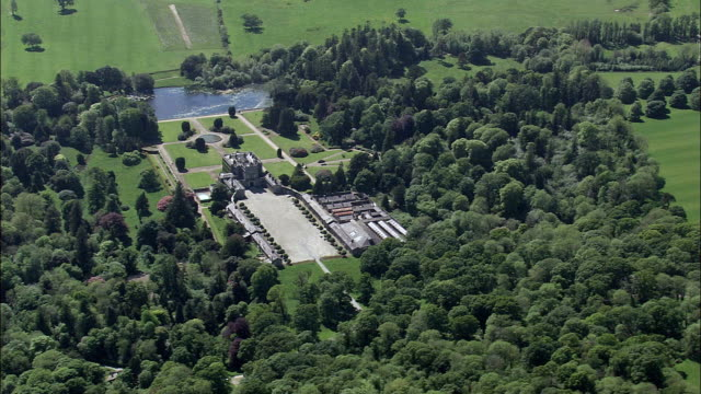Curraghmore House And Garden  - Aerial View - Munster,  County Waterford,  helicopter filming,  aerial video,  cineflex,  establishing shot,  Ireland