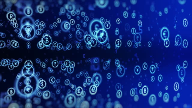 4k currency background (loopable) - currency symbol stock videos & royalty-free footage