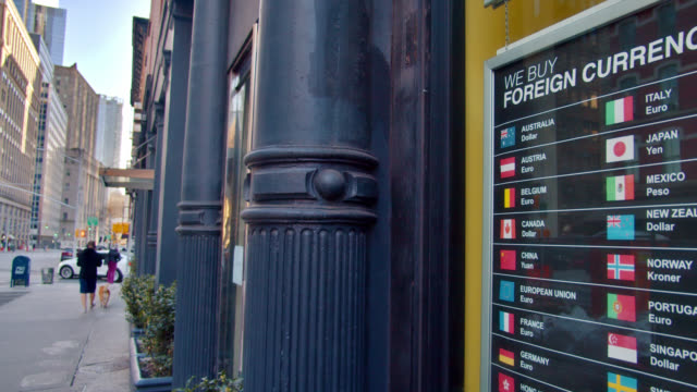currency board and city. conceptual symbol - currency symbol stock videos & royalty-free footage