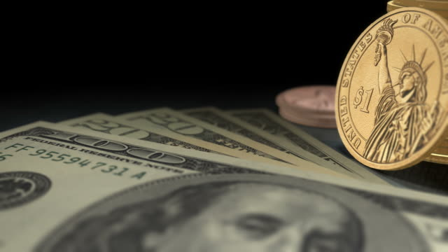 us currency  multi-perspective fly overs (1080/30p) - dime stock videos and b-roll footage
