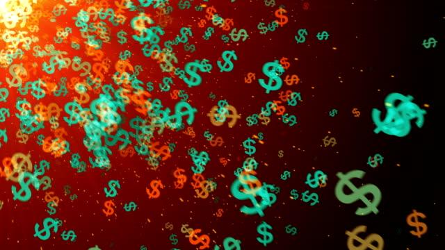 米国通貨記号 - 金利点の映像素材/bロール