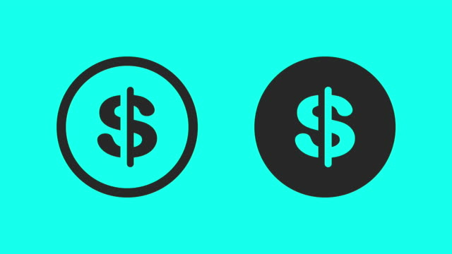 currency symbol - vector animate - dollar symbol stock videos & royalty-free footage