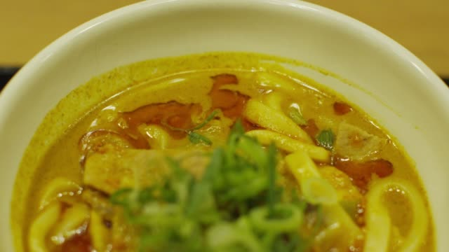 curried noodle in tokyo, japan - meal stock videos & royalty-free footage