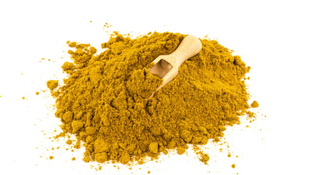 curry powder on white - curry powder stock videos & royalty-free footage