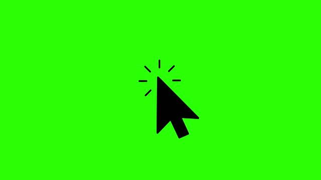 vídeos y material grabado en eventos de stock de cursor haga clic en iconos animados. vídeo 4k. pantalla verde. chromakey. clic en el icono del cursor del ratón - ratón de ordenador