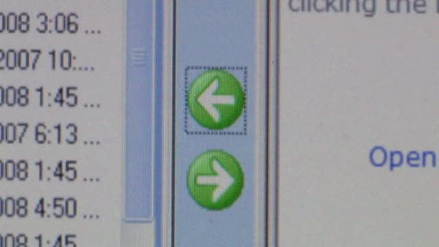 CU Cursor clicking on arrow button on computer screen to download information/ Brooklyn, NY
