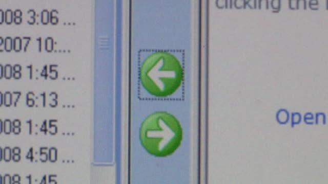 vídeos y material grabado en eventos de stock de cu cursor clicking on arrow button on computer screen to download information/ brooklyn, ny - cursor