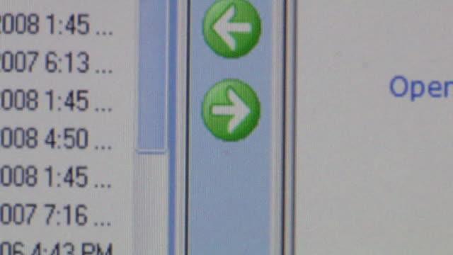 vídeos y material grabado en eventos de stock de cu cursor clicking on arrow button on computer screen to upload information/ brooklyn, ny - cursor