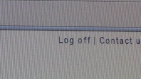 cu cursor clicking on 'log off' button on computer screen/ brooklyn, ny - computer mouse stock videos & royalty-free footage