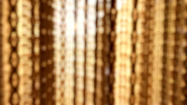 vídeos de stock, filmes e b-roll de cortina movendo-se pelo vento ao pôr do sol - sunbeam