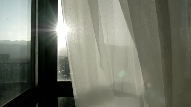 curtain with sunlight - netting stock videos & royalty-free footage