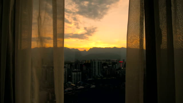 curtains in the morning - swaying stock videos & royalty-free footage