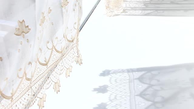curtainshadow - カーテン レース点の映像素材/bロール